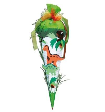 Schultüten - Schultüte Bastelset Zuckertüte Dinosaurier / Dino - ein Designerstück von Kreativstuebchen-Jansen bei DaWanda