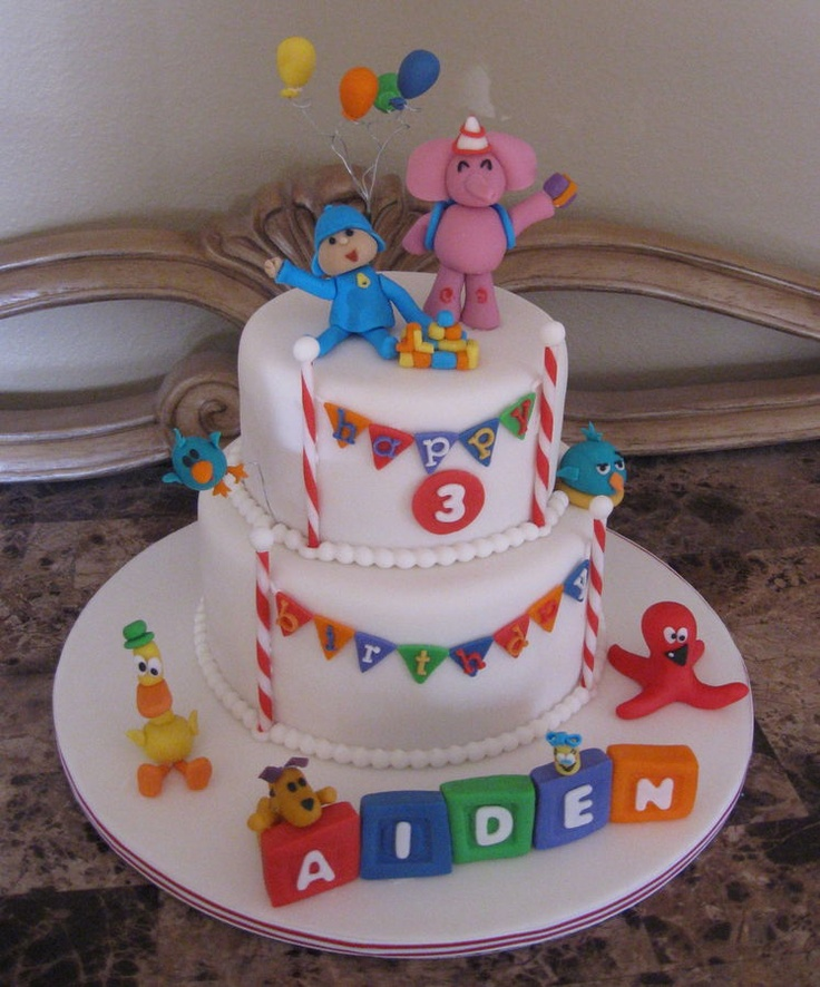25 Best Pocoyo Cakes Images On Pinterest Fondant Cakes Pocoyo And