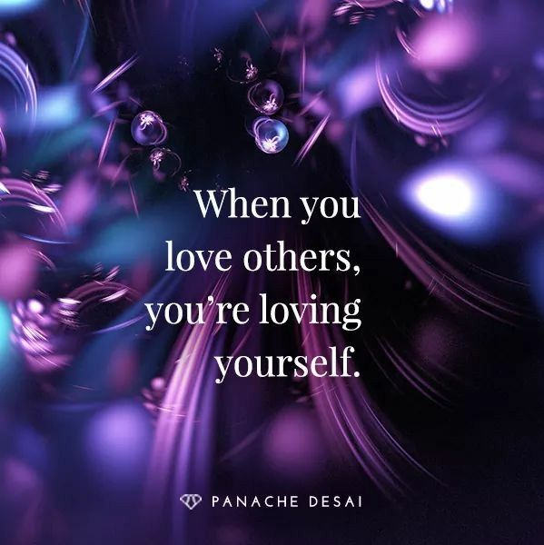 You and I are one and the same. Only put out the energy that you wish to embody.