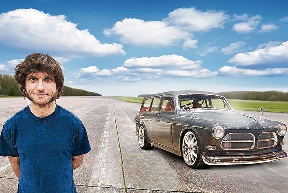 Guy Martin has taken his 1967 Volvo up to 205mph on the track but says it will go faster and hit 60mph in less than three seconds