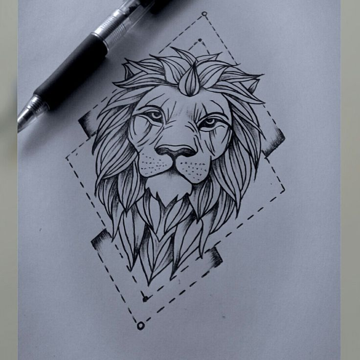 Lion drawing                                                                                                                                                                                 Mais #lion_tattoo_drawing