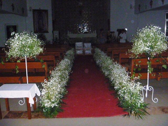 Decoracion Iglesia Boda Velas ~ Camino de nube  IGLESIAS DECORADAS PARA BODAS  Pinterest