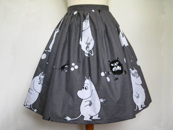Moomin Skirt With Net Underskirt All Sizes by Frockasaurus on Etsy, £40.00
