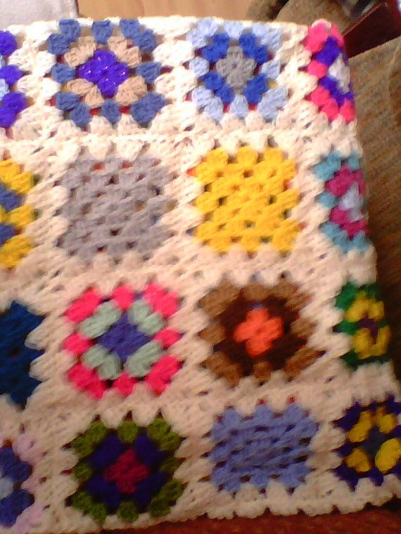 crochet cushion cover by linsbargains on Etsy, £7.50