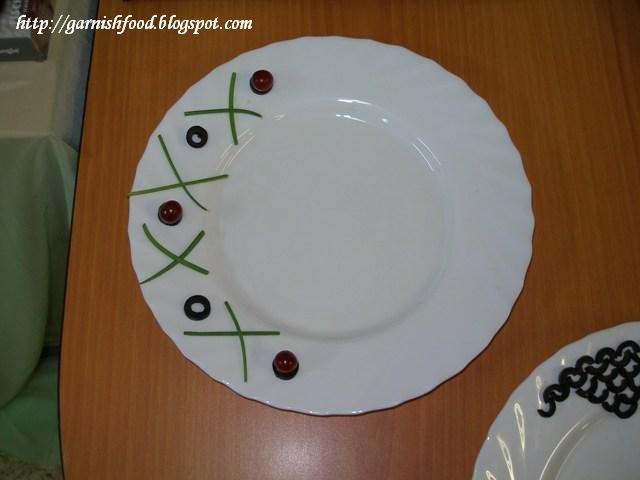 how to garnish a plate carving arrangements and food