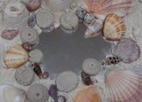 Artwork made from sea shells