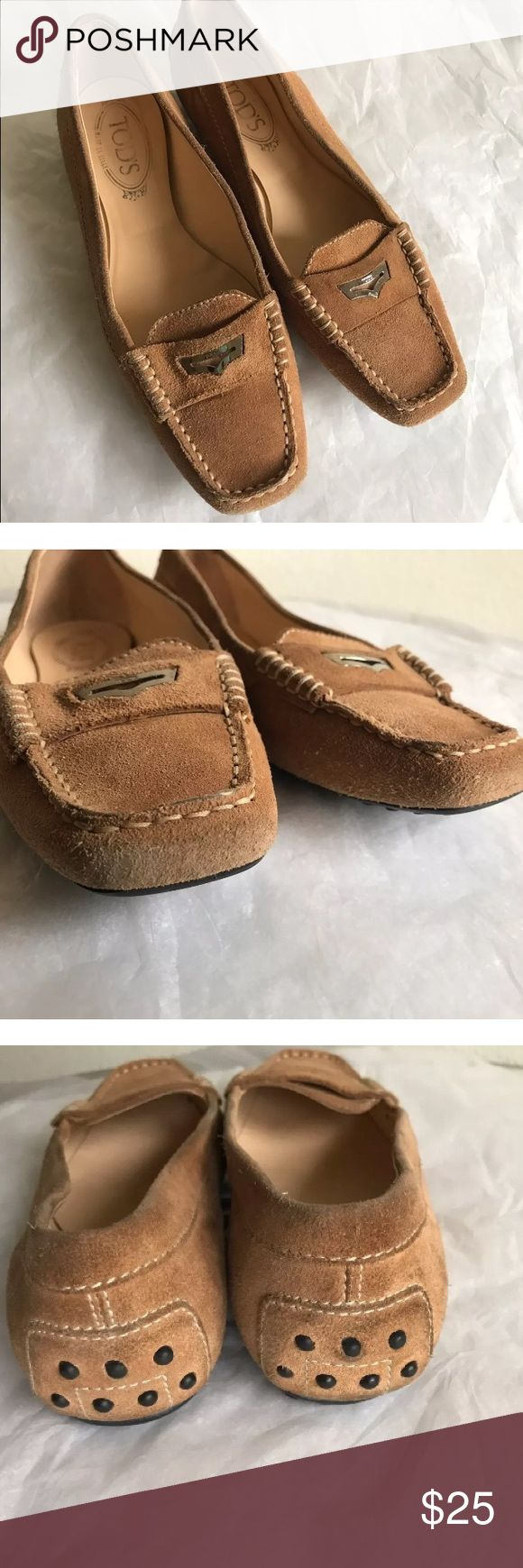 TODS Brown Suede Loafers Tod's Normal signs of wear on suede Tod's Shoes Flats & Loafers