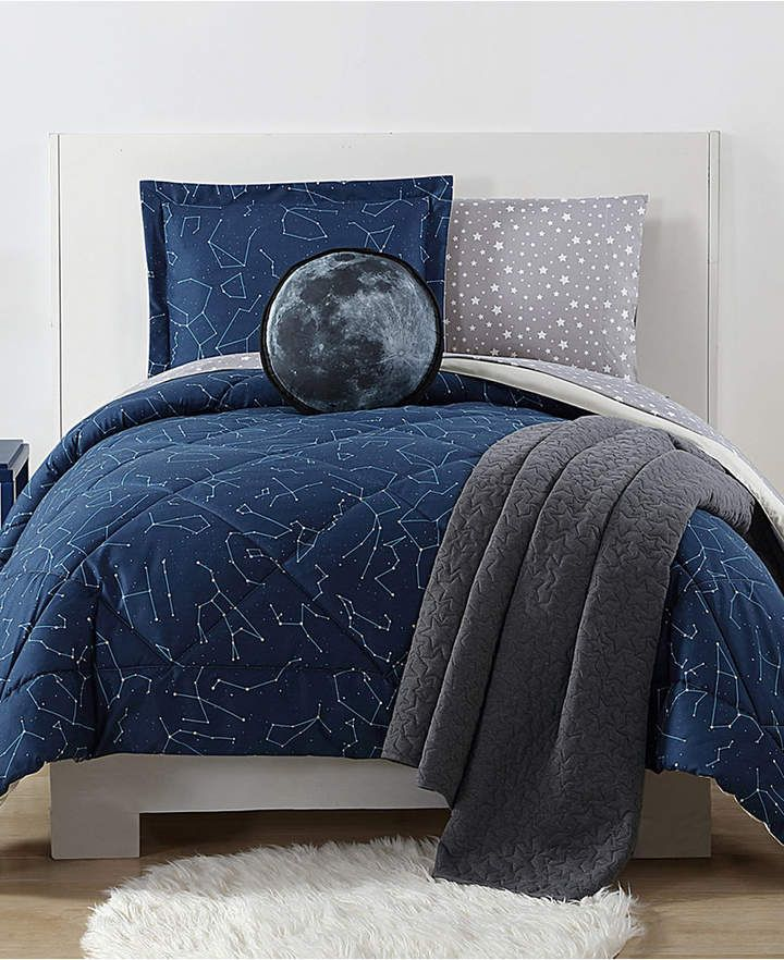 Laura Hart Night Sky Reversible 2 Pc Constellation Print Twin Xl Kids Comforter Bedding Set Homedecor H Comforter Sets Twin Xl Comforter Print Comforter