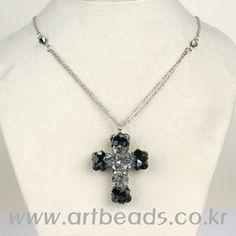 Beaded cross pendant  PATTERN Artbeads
