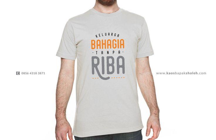 Kaos Muslim Anti Riba - Cocok Untuk Kepala Keluarga  #anti #riba #kaos #dakwah #islam #tanpariba #art #jogja