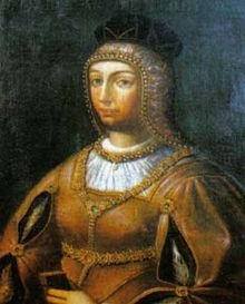 Maria of Aragon (1482 - 1517). Queen of Portugal from 1500 until her death in 1517. She was married Manuel I and had ten children.