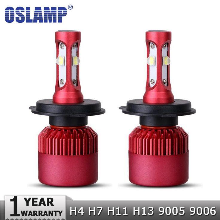 Cheap price US $31.19  Oslamp H4 H7 H11 H13 9005 9006 SMD Chips 80W LED Car Headlight Bulb Hi-Lo Beam 9600lm 6500K Auto Led Headlamp Fog Light 12V 24V