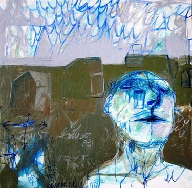 "Saatchi Art Artist Rusudan Khizanishvili; Painting, ""The Walker II"" #art"