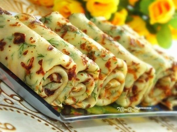 Cheese pancakes with herbs