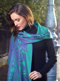 Celtic Design Wool Scarf