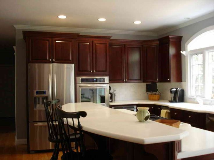 Cool Kitchen Winsome Kitchen Paint Colors With Cherry Cabinets And Classic Oak Bar Counter Image Of New