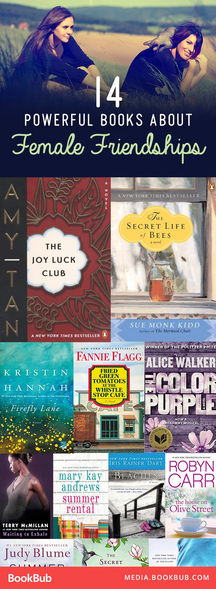 14 must-read books for women about the power of female friendship.