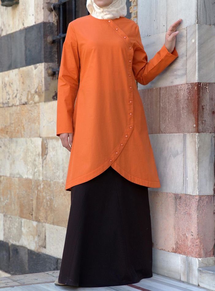 Cross-Over Top in Pumpkin from Shukr USA