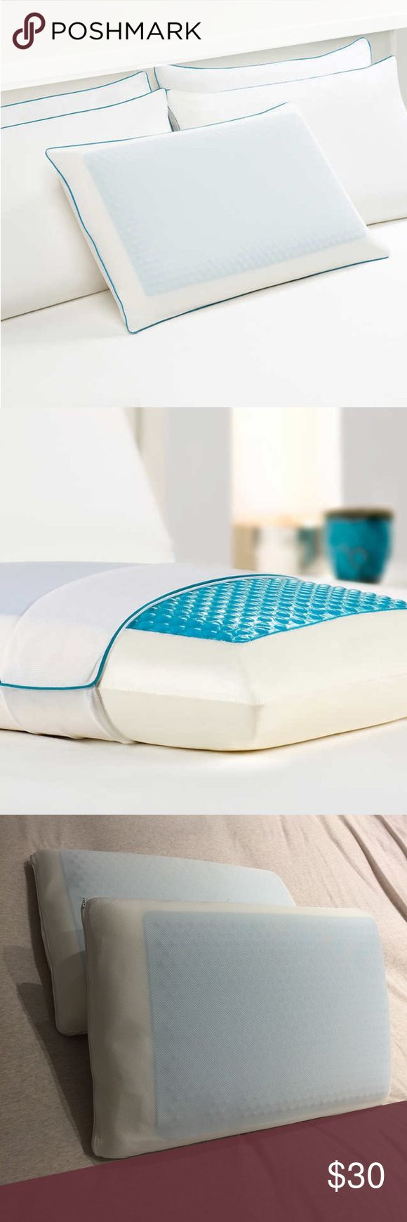 Comfort Revolution Hydraluxe Gel Memory Pillow Didn't have these for even a few months and prefer a more ergonomic pillow for me. But i loved these, slightly firm and has cooking gel on top side! Other