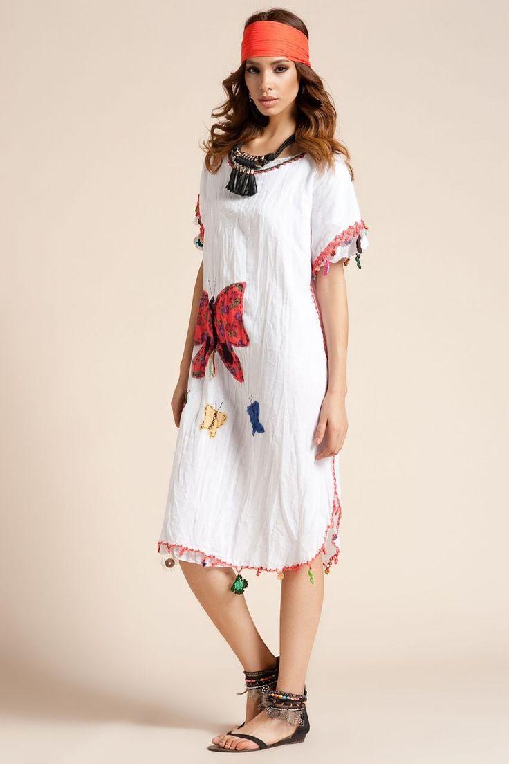Otantik Bitez Elbise - Beyaz