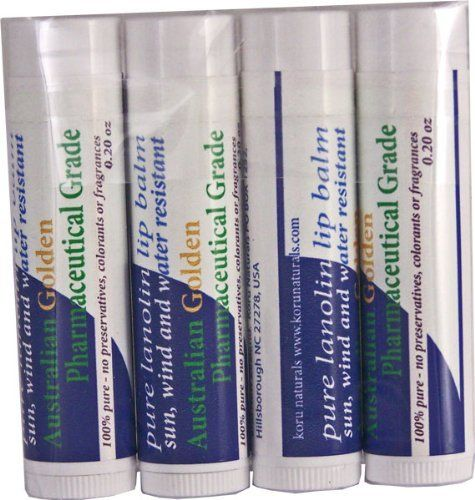 100% Pure Anhydrous Lanolin Lip Balm - Non-drying Lip Balm -Set of Four Tubes by Naturals New Zealand, http://www.amazon.com/dp/B003I030T2/ref=cm_sw_r_pi_dp_gweyqb10FNZ7G