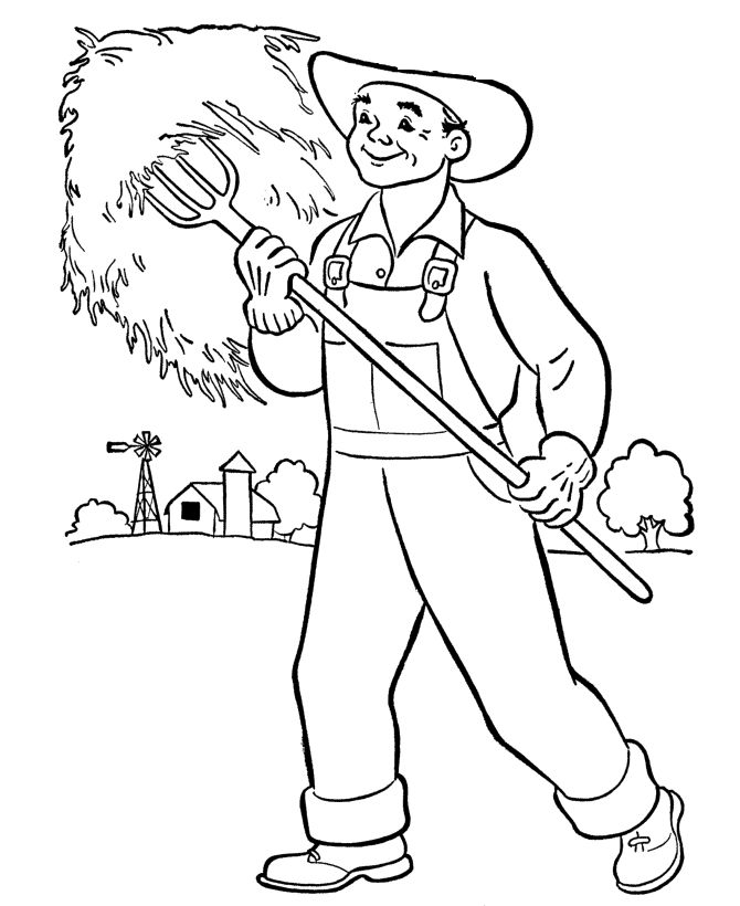 coloring pages farmers - photo#11