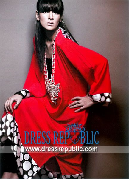 Red Stanley, Product code: DR5109, by www.dressrepublic.com - Keywords: Casual Party Shalwar Kameez Dresses 2011 - 2012 Collection, Casual Salwar Kameez Online Shop