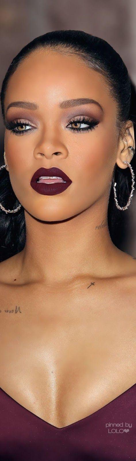 Rihanna's Plum Smokey Eye Tutorial