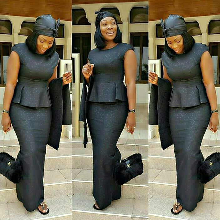 Kaba And Slit Style For Funeral. This Is A Nice African