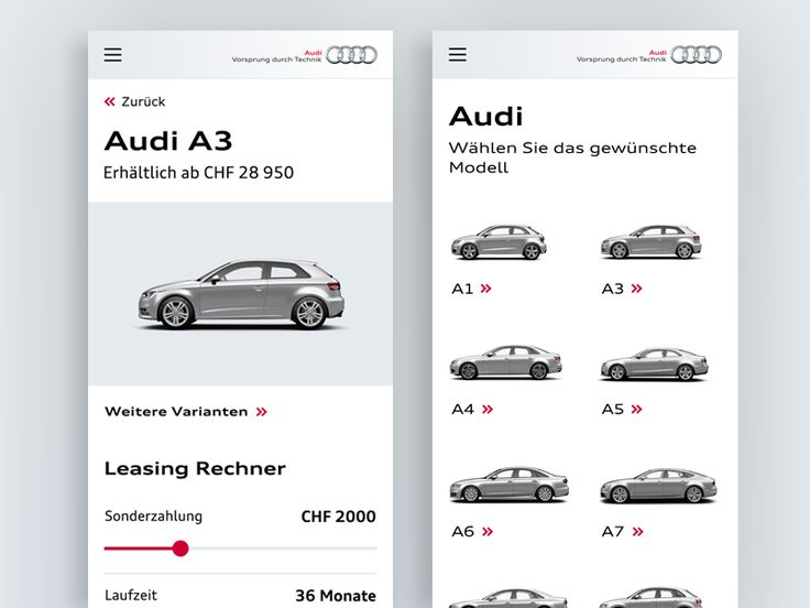 Audi QR App for AMAG by Sascha Eggenberger