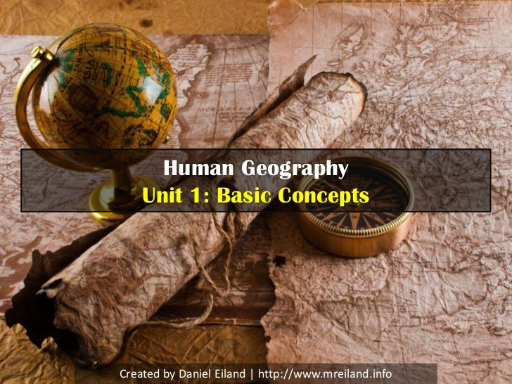 AP Human Geography: Unit 1 - Introduction to Geography