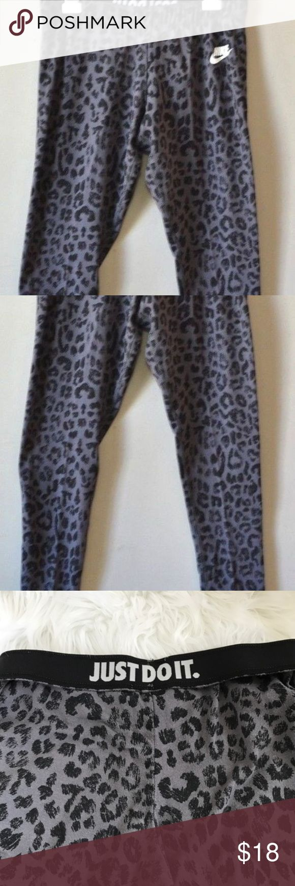 Nike leopard yoga pants Worn a couple times but still look great Nike Pants Leggings