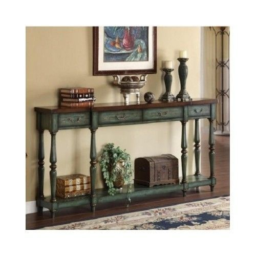 Vintage Entryway Table Hallway Green Console Sofa Display Tables Home Furniture in Home & Garden | eBay