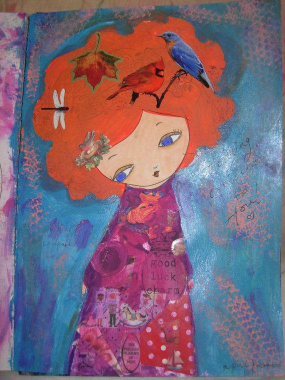 Nothing Compares to You Original mixed media painting by eltsamp, $88.00