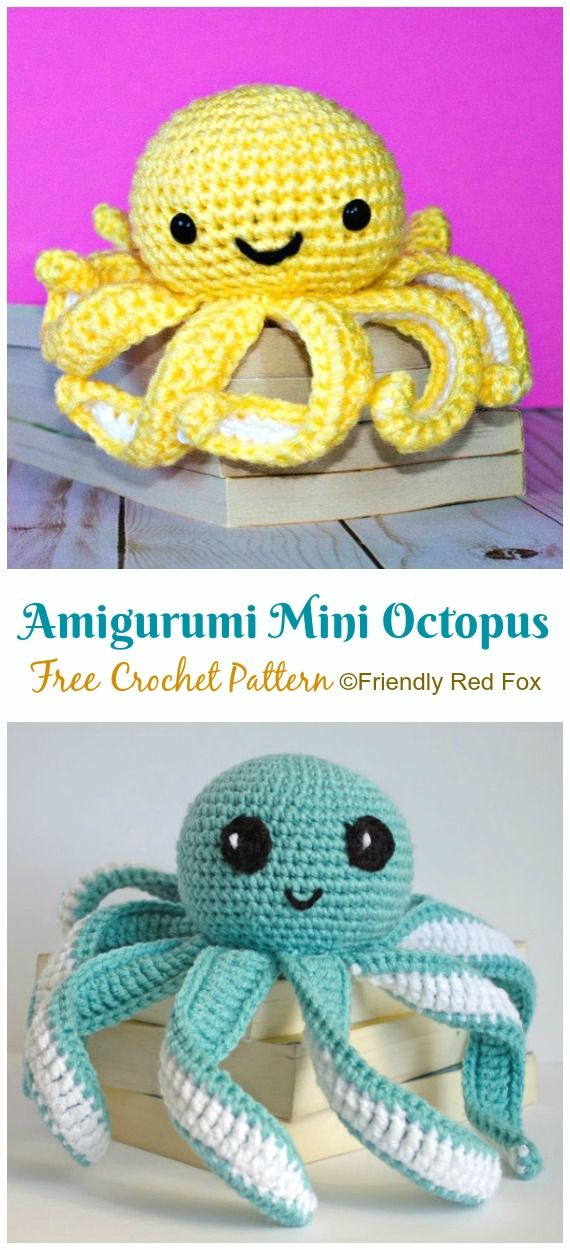 Amigurumi Mini Octopus Free Crochet Patterns Crochet Sealife Toys Amigurumi Free Pat Crochet Toys Free Patterns Octopus Crochet Pattern Crochet Toys Free