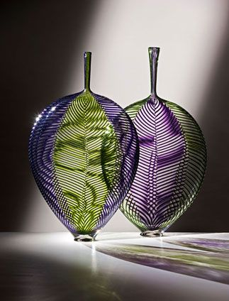 Dante Marioni - Purple and green aspen leaves