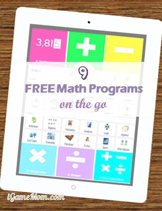 9 Free math websites that offer daily free math drills and math lessons - access from computers or mobile devices