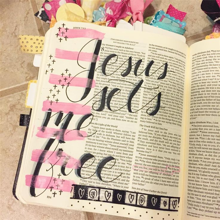 Bible Journaling by @eat.craft.run