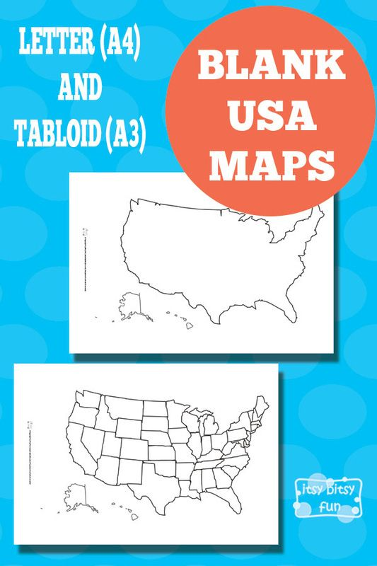 Printable Blank USA Map