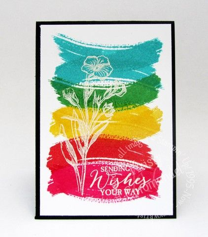 Create this one layer card with Work of Art, Basic Butterfly stamp set from Stampin' Up!