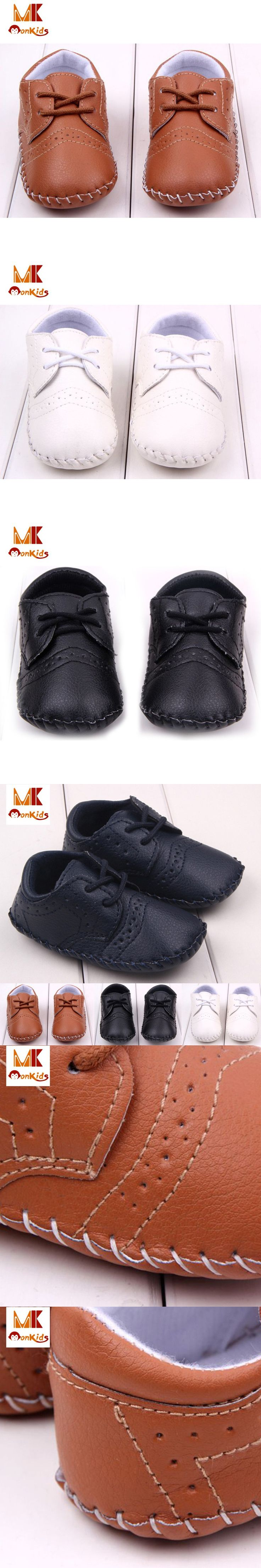 MK New Spring Fashion Baby Shoes England Solid Leather Toddler Moccasins Shallow Infant Boy PU Shoes for Newborns Free Shipping