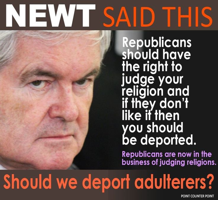 Unpatriotic Republikkkan Fascist+ morally bankrupt Gingrich Attacking the  Constitution!!