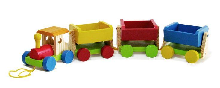 Trenzinho de Madeira - Trem de Carga - Wood Toys