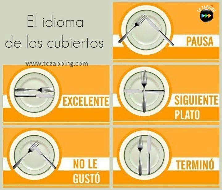 Cómo colocar los cubiertos después de comer. Las reglas de etiqueta de una mesa formal pueden parecer complicadas y sobrecogedoras.los cubiertos después de