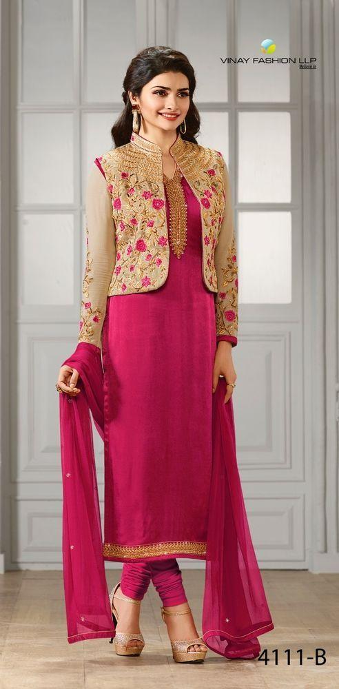 Anarkali Indian Pakistani Designer Bollywood Salwar Kameez Dress P VNY 001. #FashionBazar01 #PartyWear #PARTYWEARWEDDINGFESTIVAL