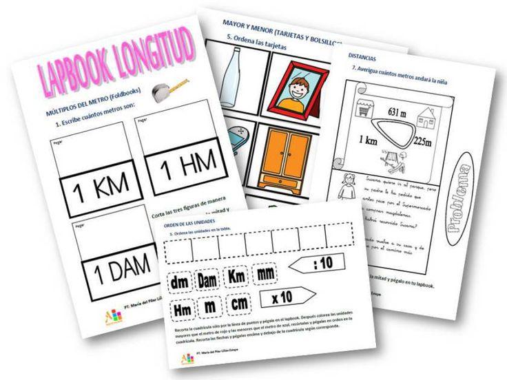 lapbook para trabajar las unidades de medida