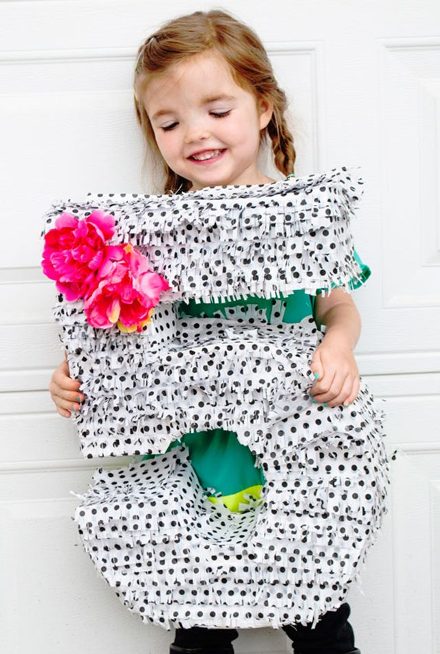 DIY Number Piñata - less than $10 to create and perfect for a kids party!