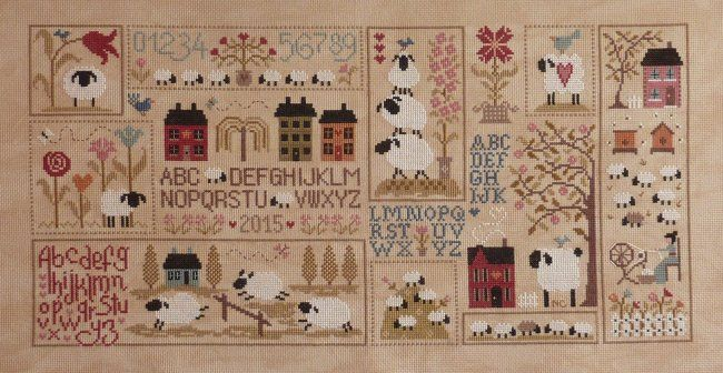 1000 images about crosstitch and antique samplers on for Jardin prive