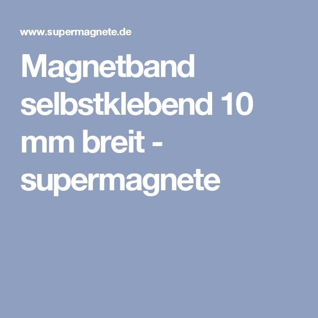 Magnetband selbstklebend 10 mm breit - supermagnete