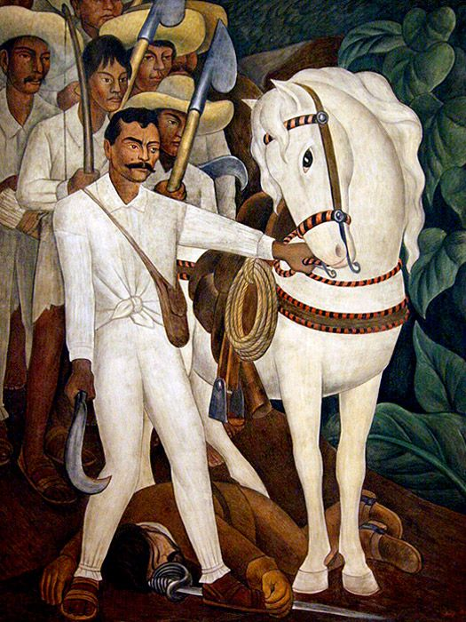 « La Révolution Agraire », « Zapata » - Diego Rivera (1911)